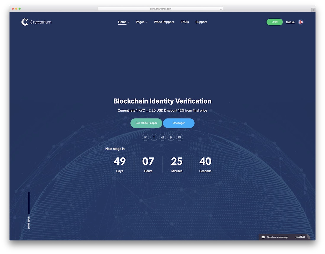 crypterium technology website template