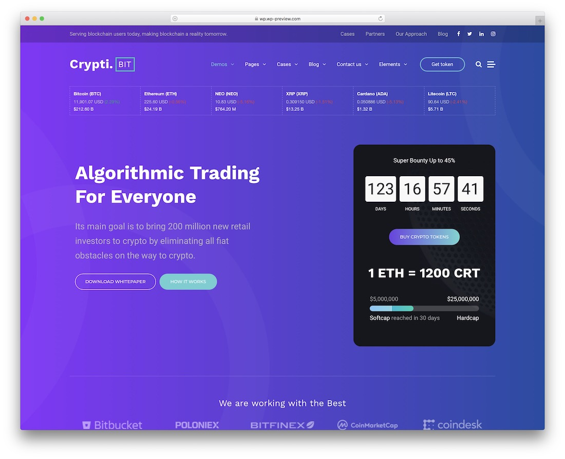 cryptibit cryptocurrency website template