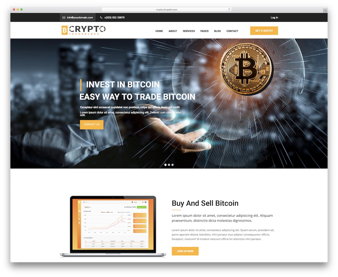 crypto drupal business template