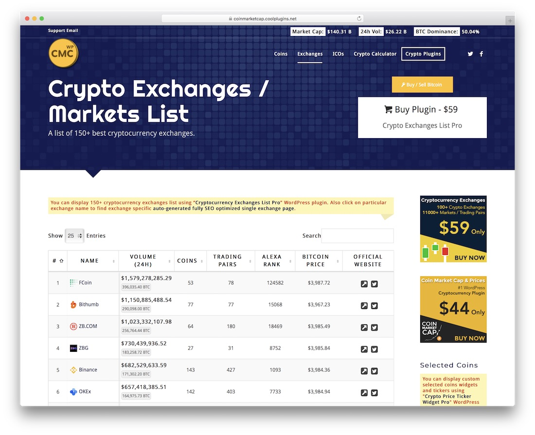 cryptocurrency price ticker widget pro wordpress plugin nulled