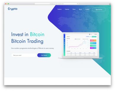 Cryptocurrency Free Template