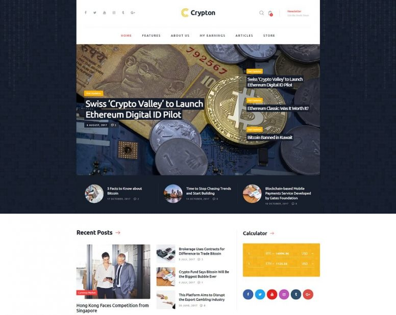 20 Best Bitcoin & Cryptocurrency WordPress Themes 2018