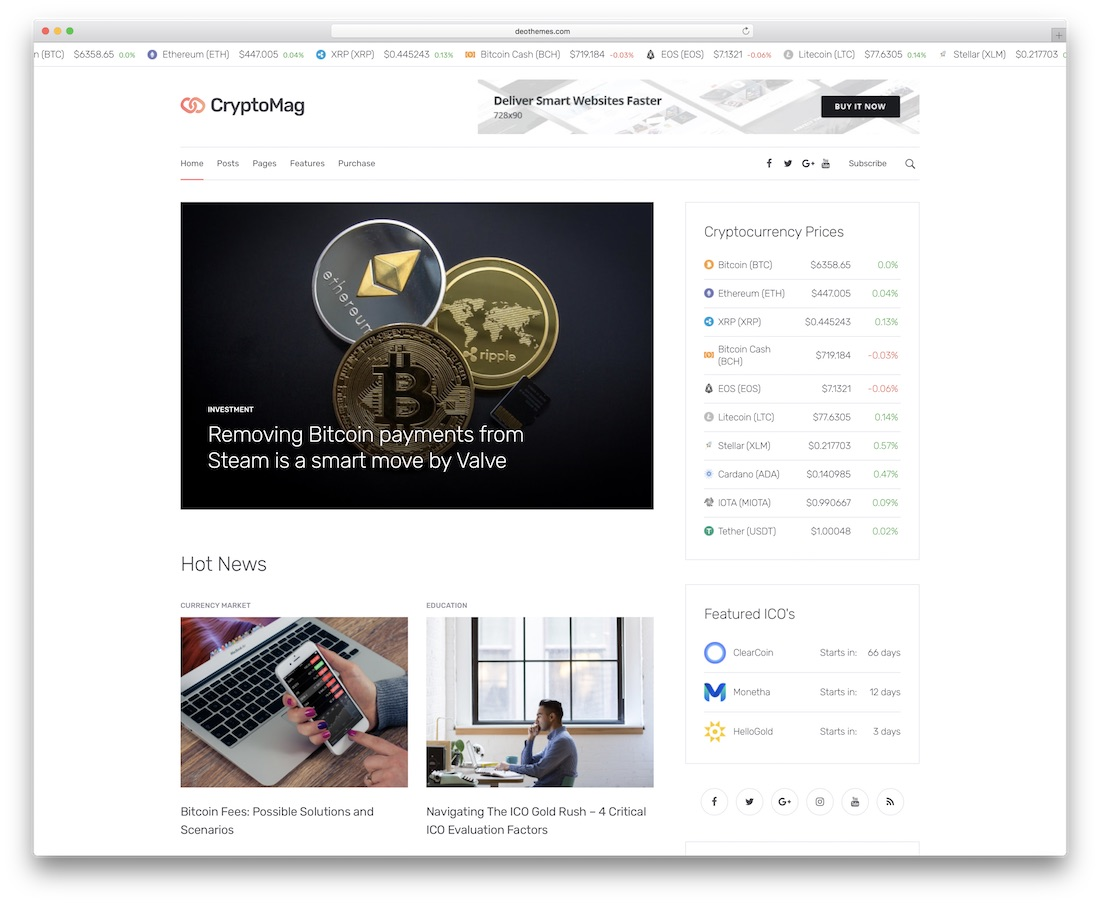 cryptomag news website template