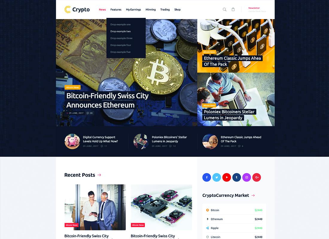 Crypton   A Multi-Purpose Cryptocurrency WordPress Theme