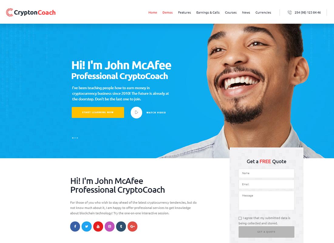 Crypton | A Multi-Purpose Cryptocurrency WordPress Theme