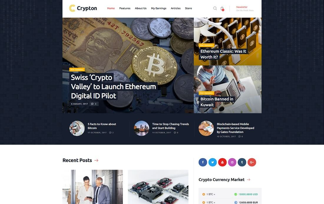 crypton cryptocurrency wordpress theme