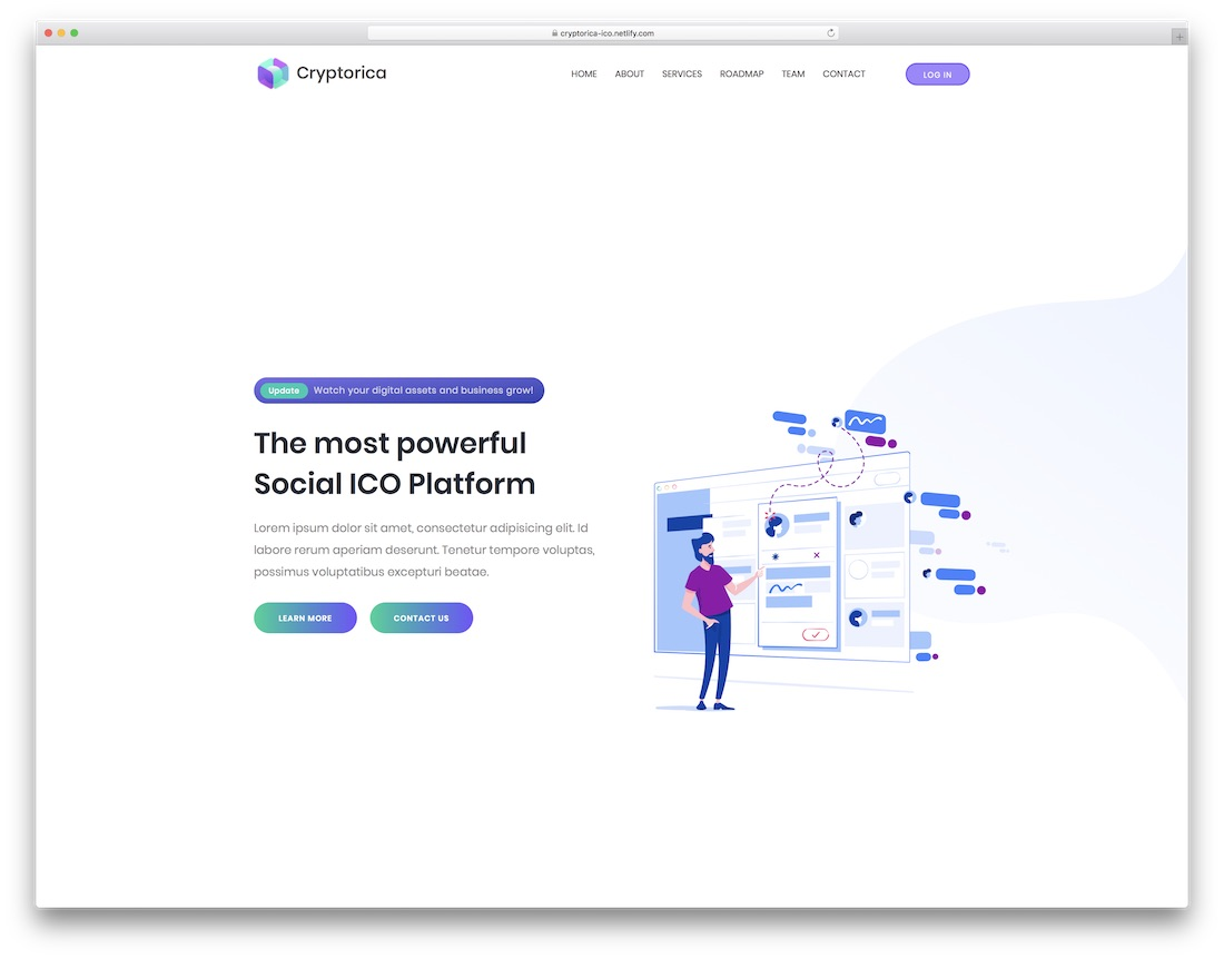 cryptorica cryptocurrency website template