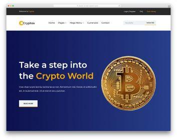 Cryptos Free Template