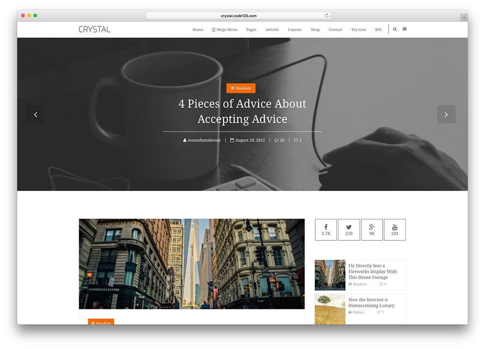 crystal-simple-customizable-wordpress-blog-theme