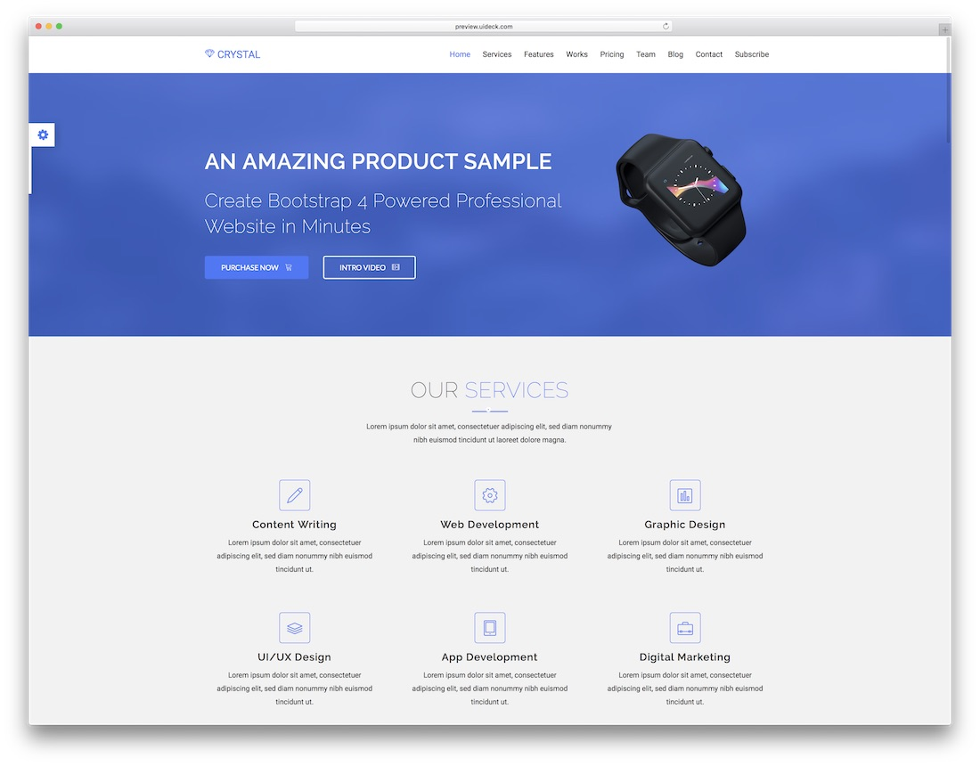 crystal technology website template