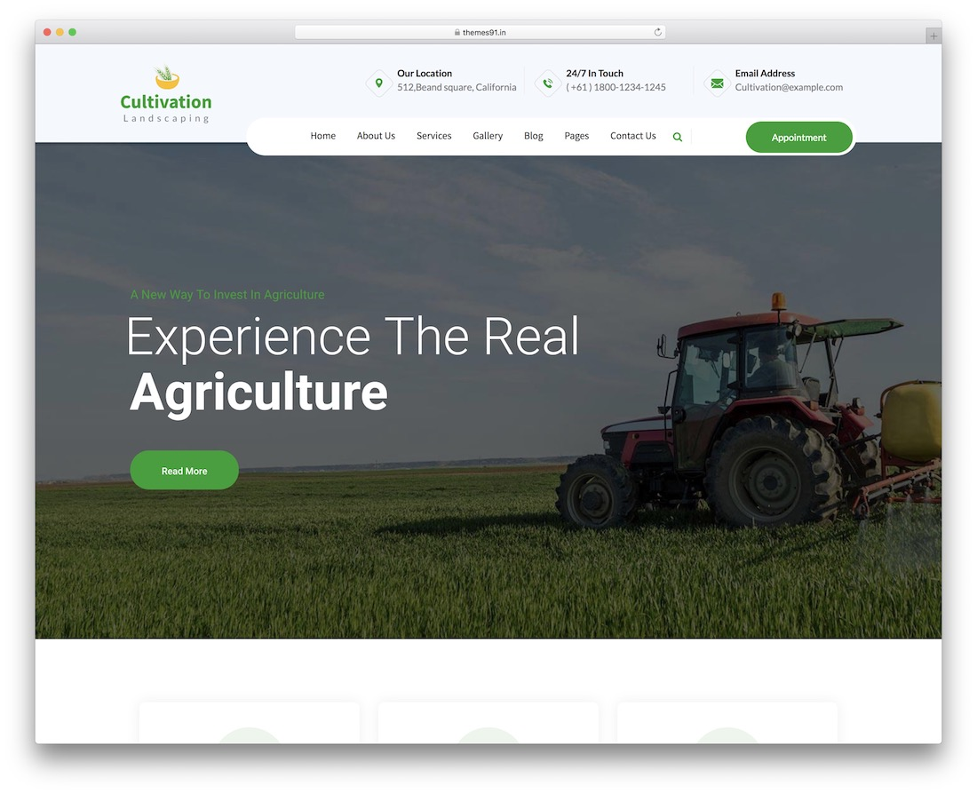 cultivation farming wordpress theme