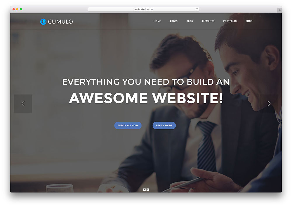 cumulo-multipurpose-business-html5-site-template