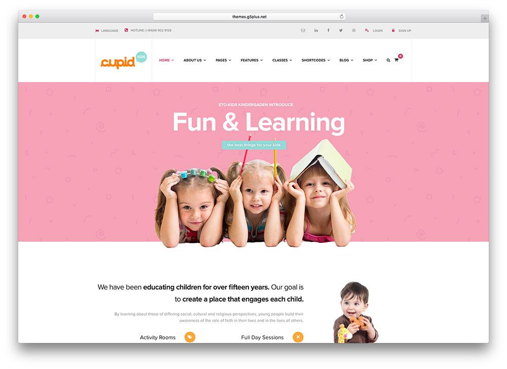 cupid-kindergarten-education-theme