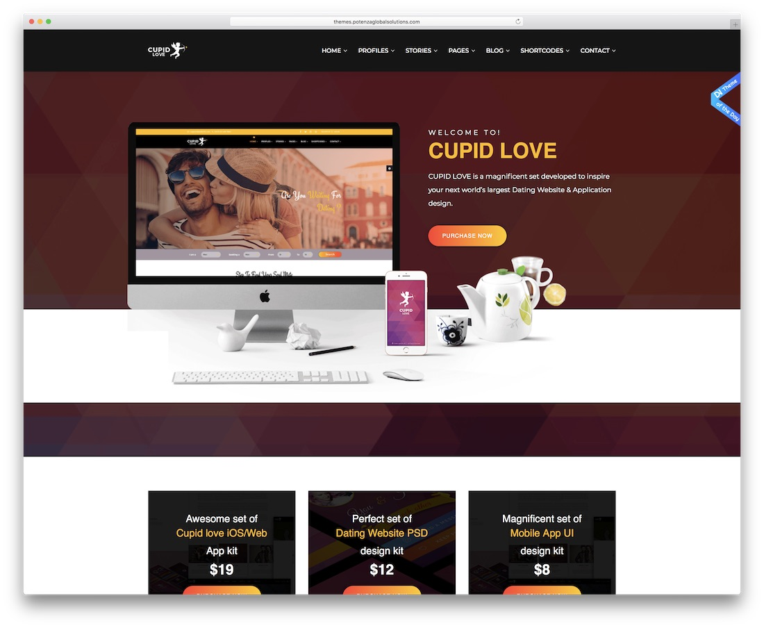 cupid love dating website html template