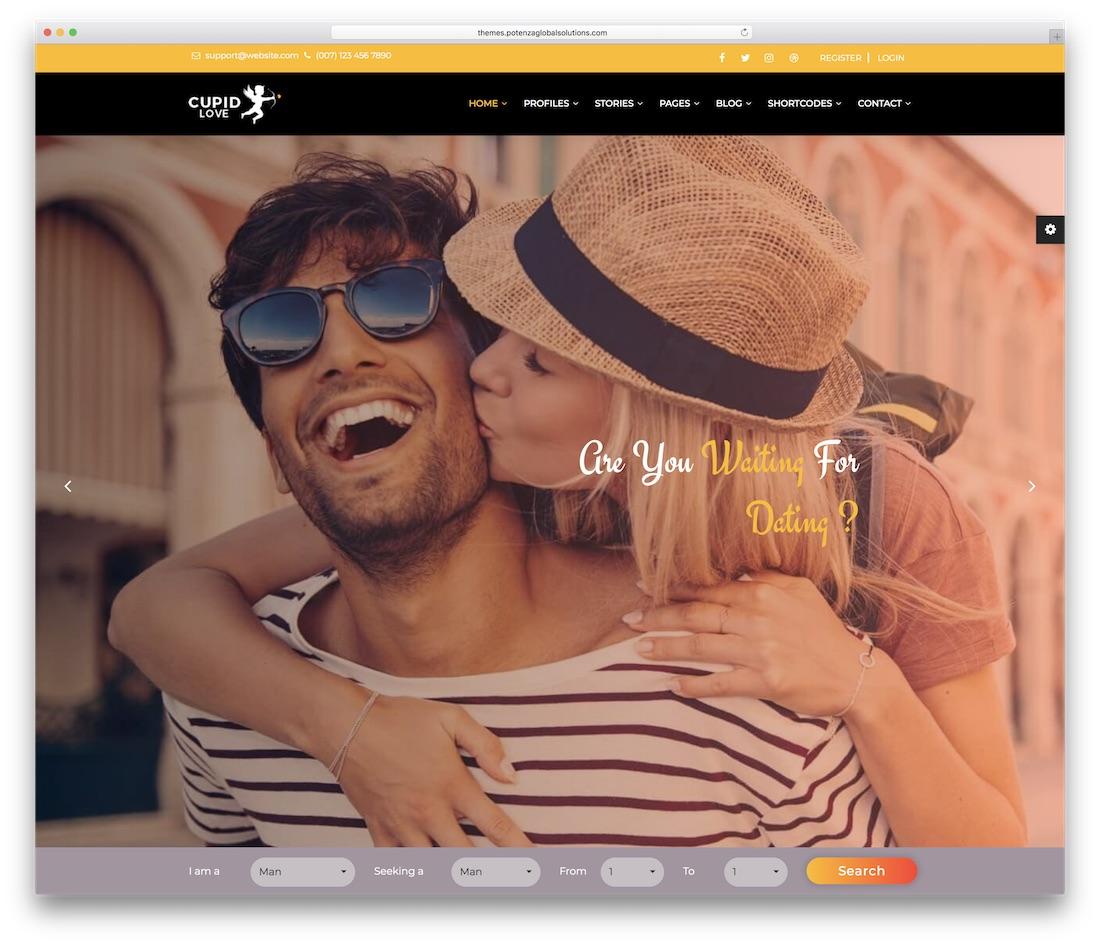 cupid love website template