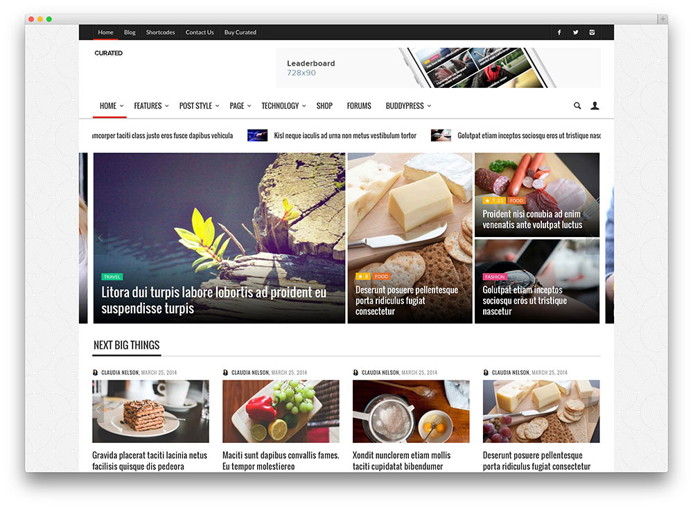 curated - clean magazine theme