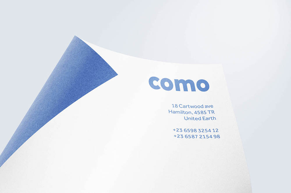 curved paper free mockup