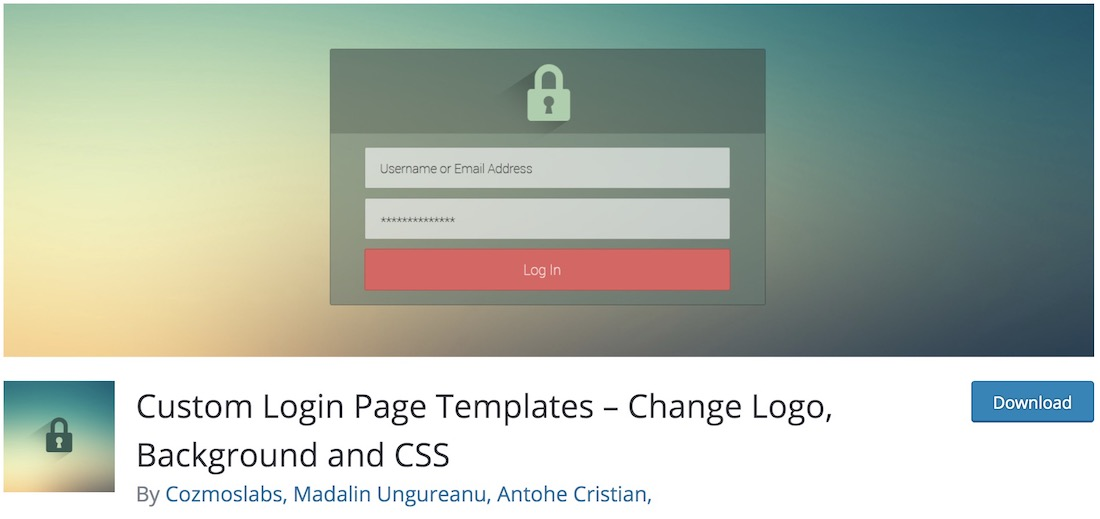 custom login page templates