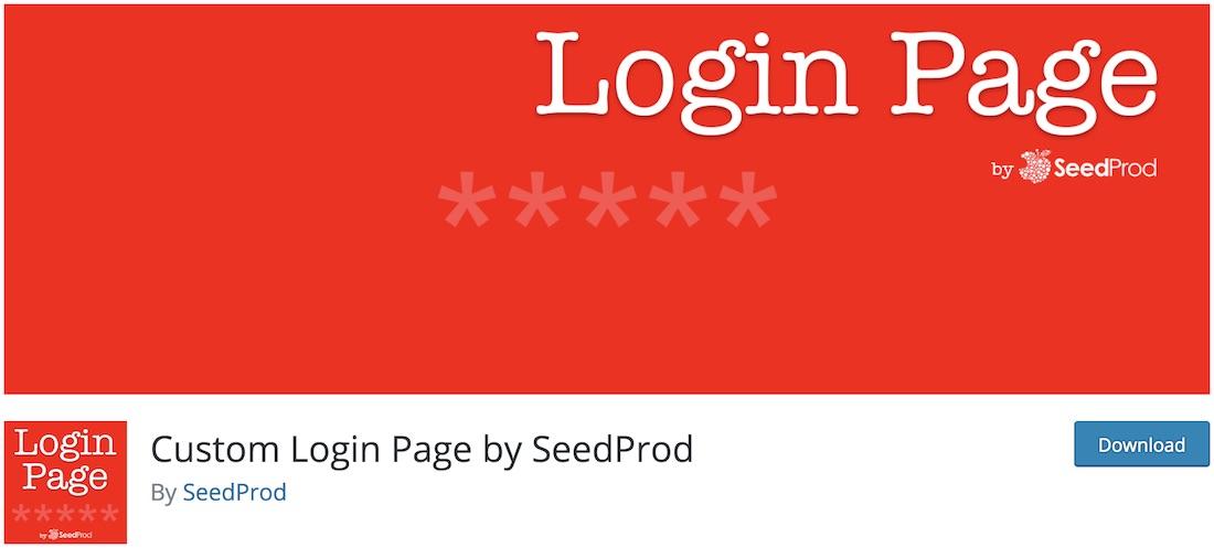 custom login page wp