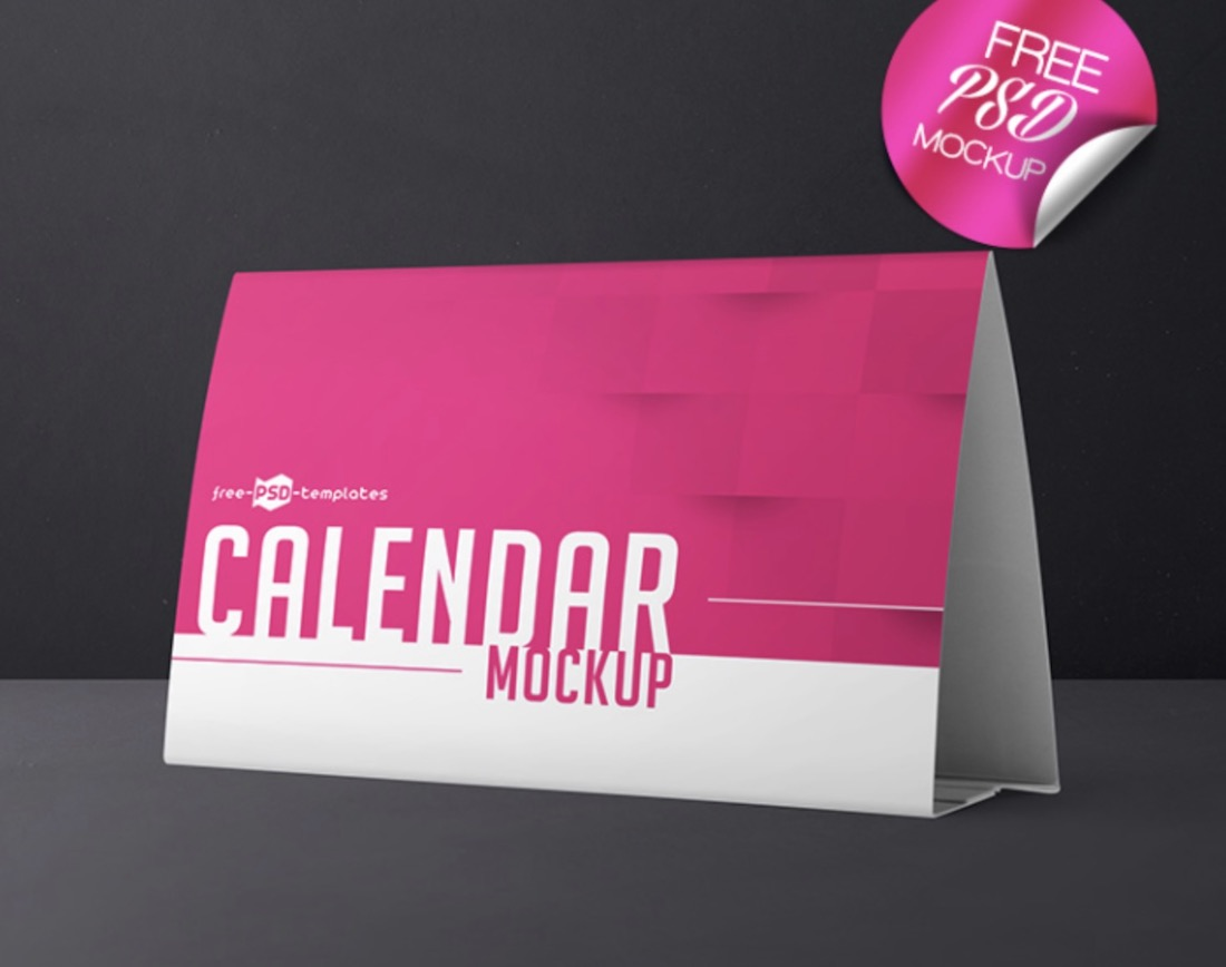 customizable calendar psd mockup