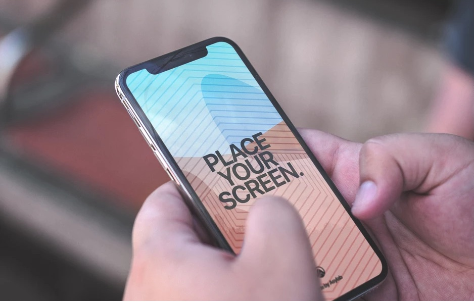 customizable iphone x psd mockup download
