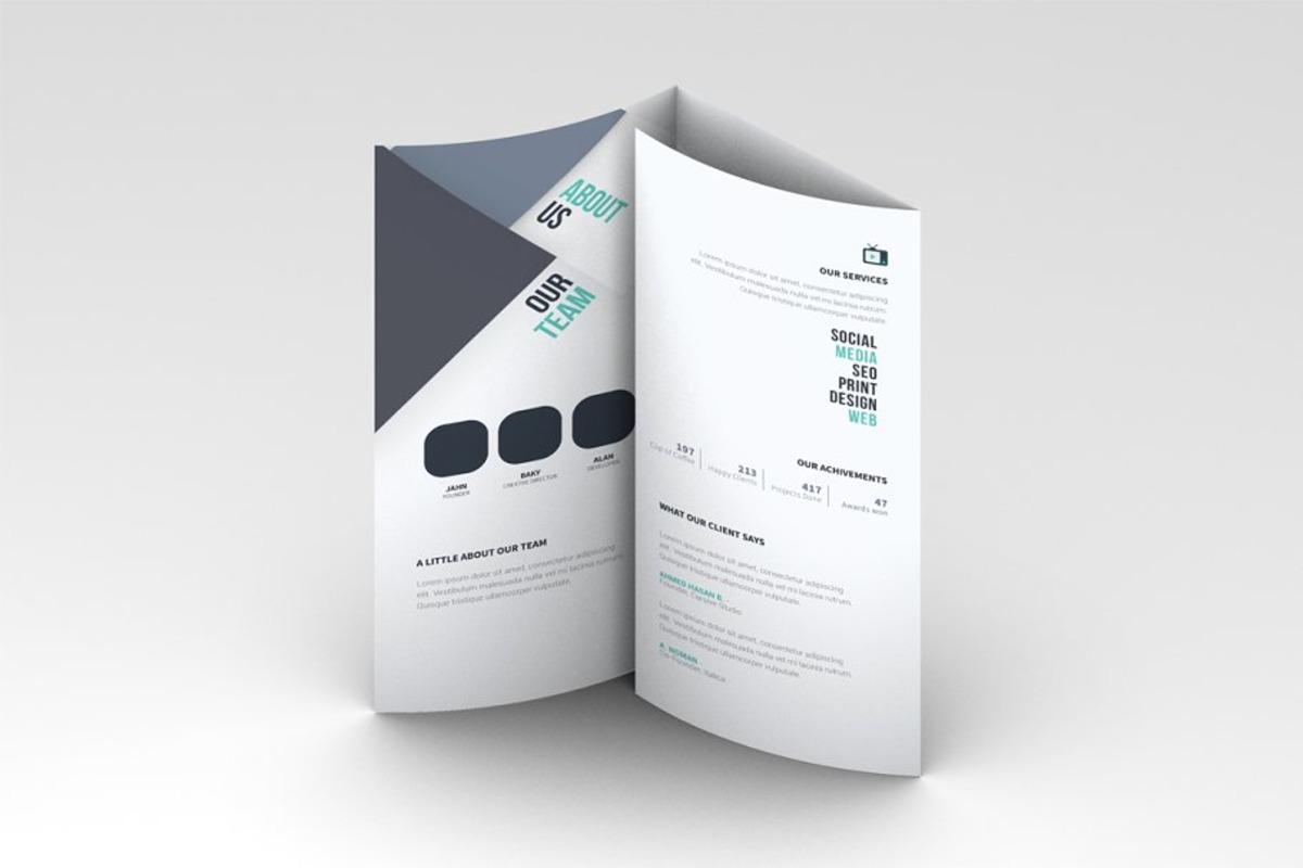 Customizable Trifold Brochure Mockup