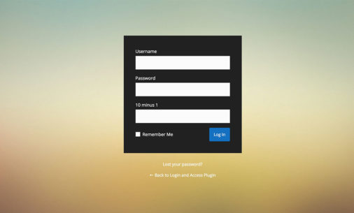 Customize Login Page Plugins
