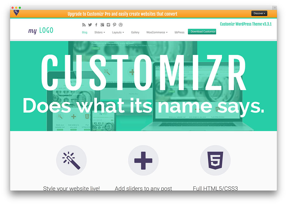 customizr - multipurpose business theme
