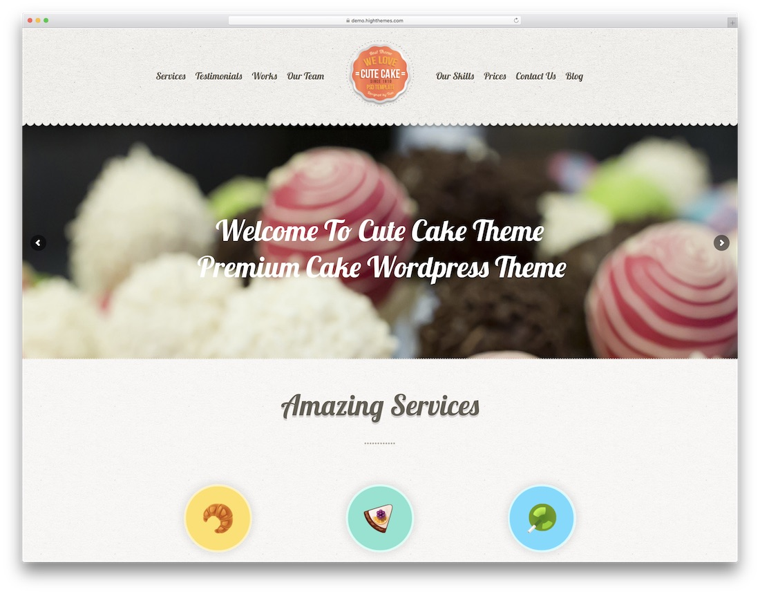 cute cake cute wordpress theme