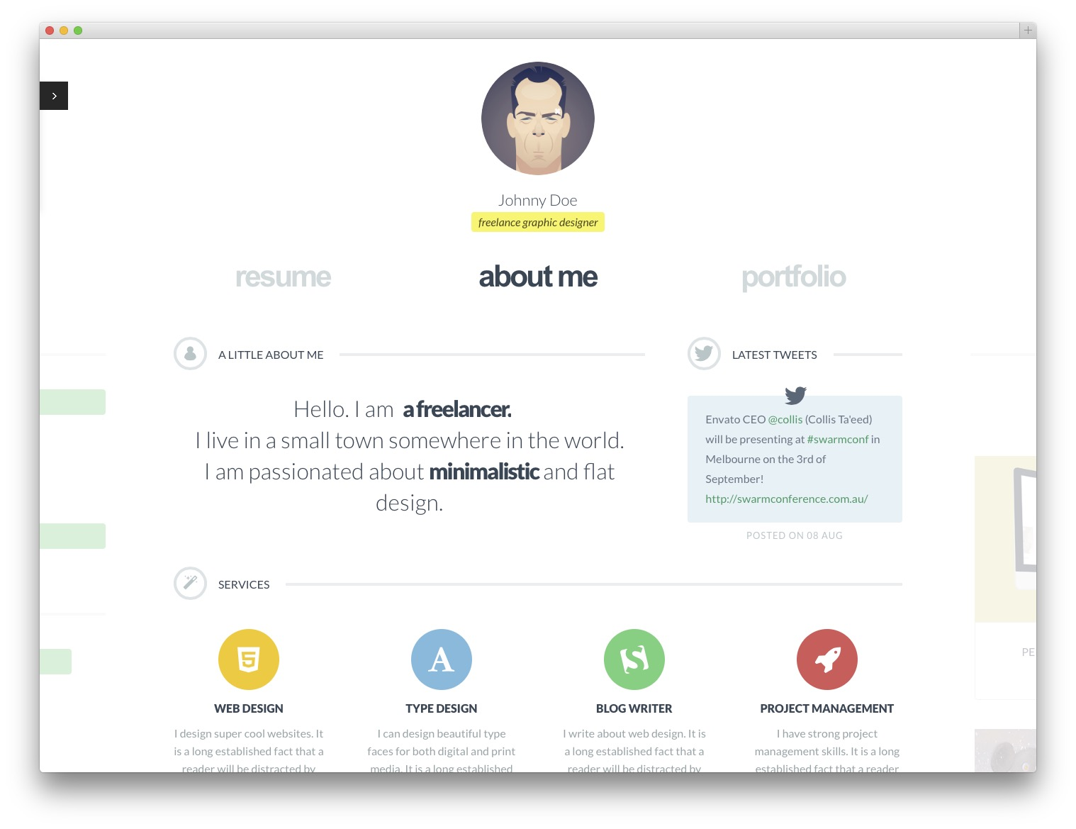 Wordpress Resume full Cvcard Minimal Wordpress Template