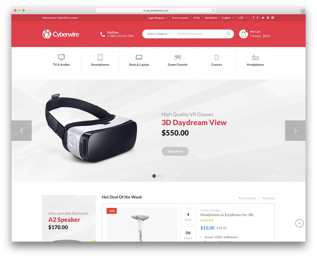 cyberwire technology woocommerce theme