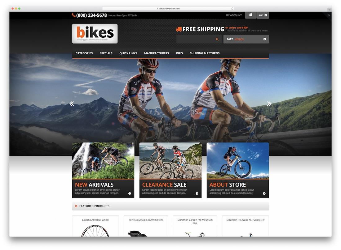 cycling zen cart template