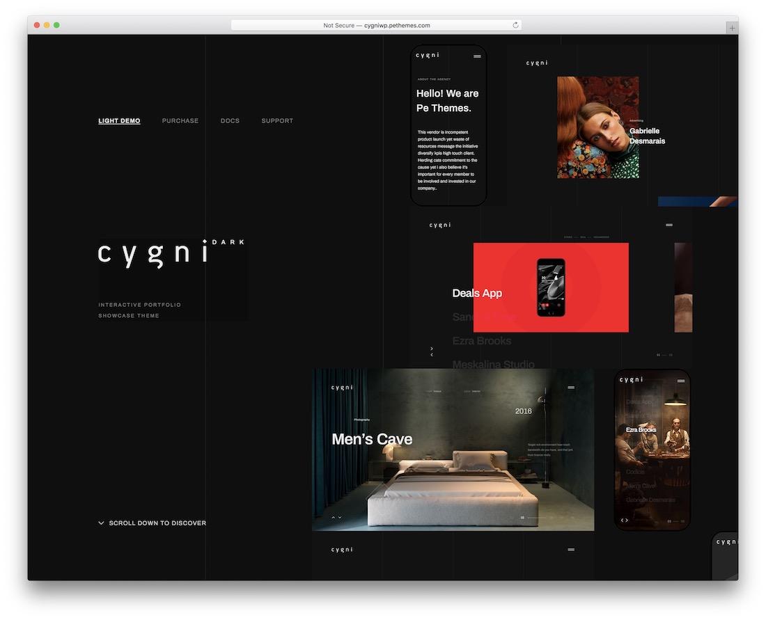 cygni interactive wordpress theme