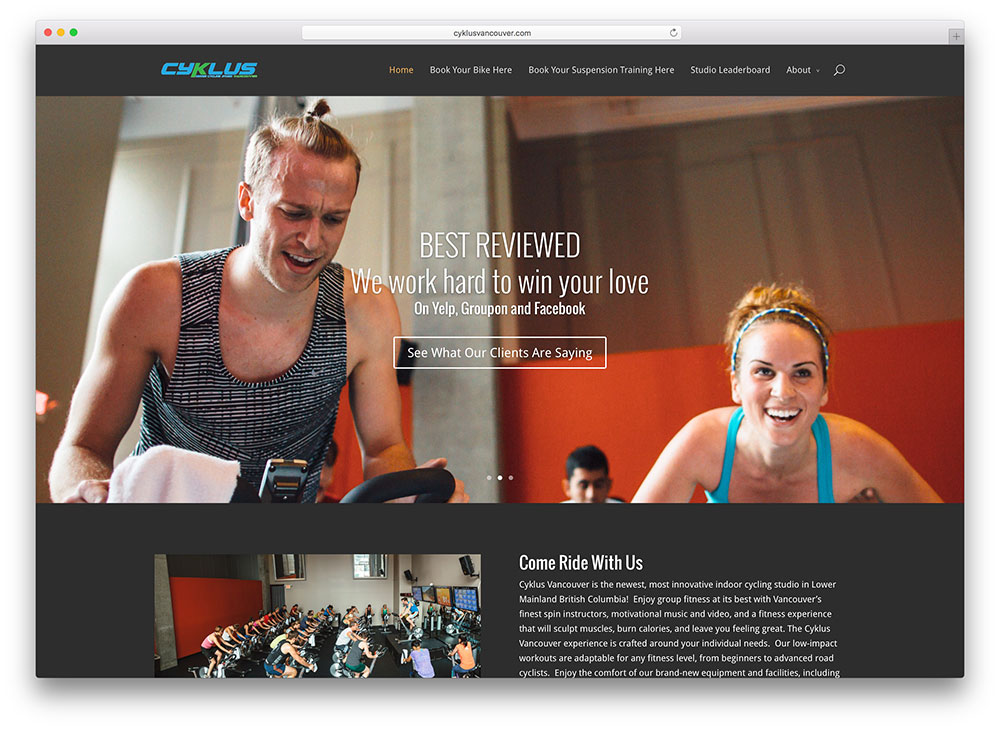 cyklusvancouver-fitness-website-using-divi