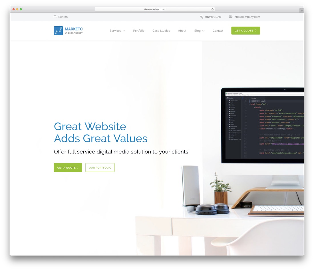 cynic business website template