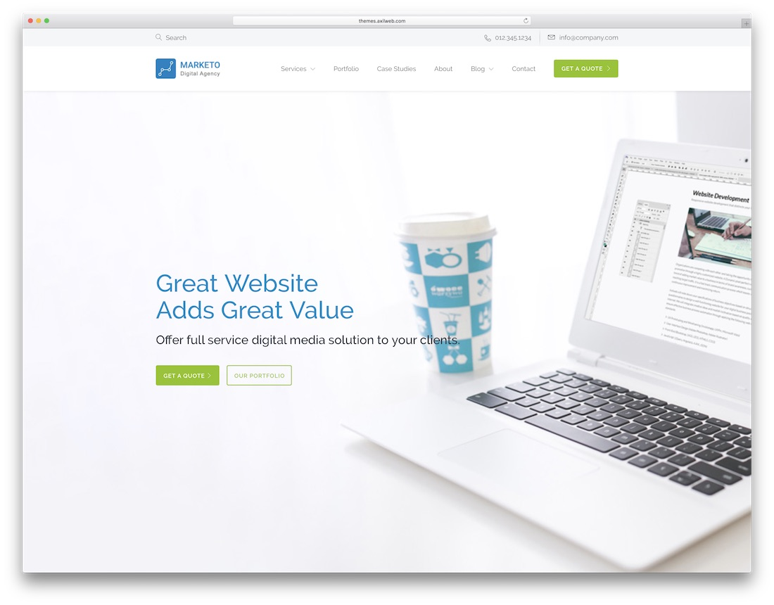 cynic technology website template