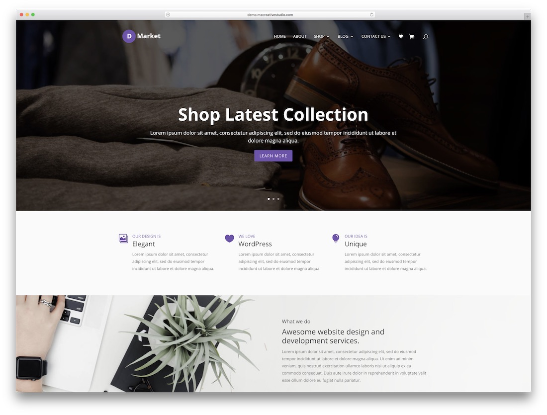 d-market ecommerce divi child theme
