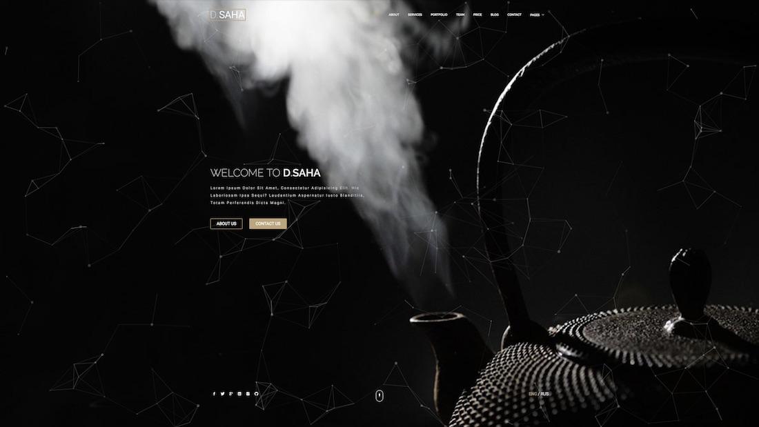 d.saha website template