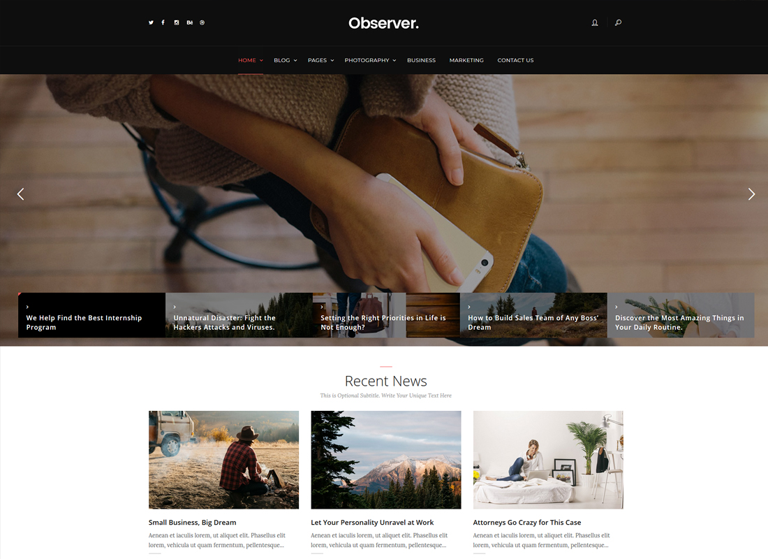 Daily Observer - A Modern Magazine, Review & News Portal WordPress Theme