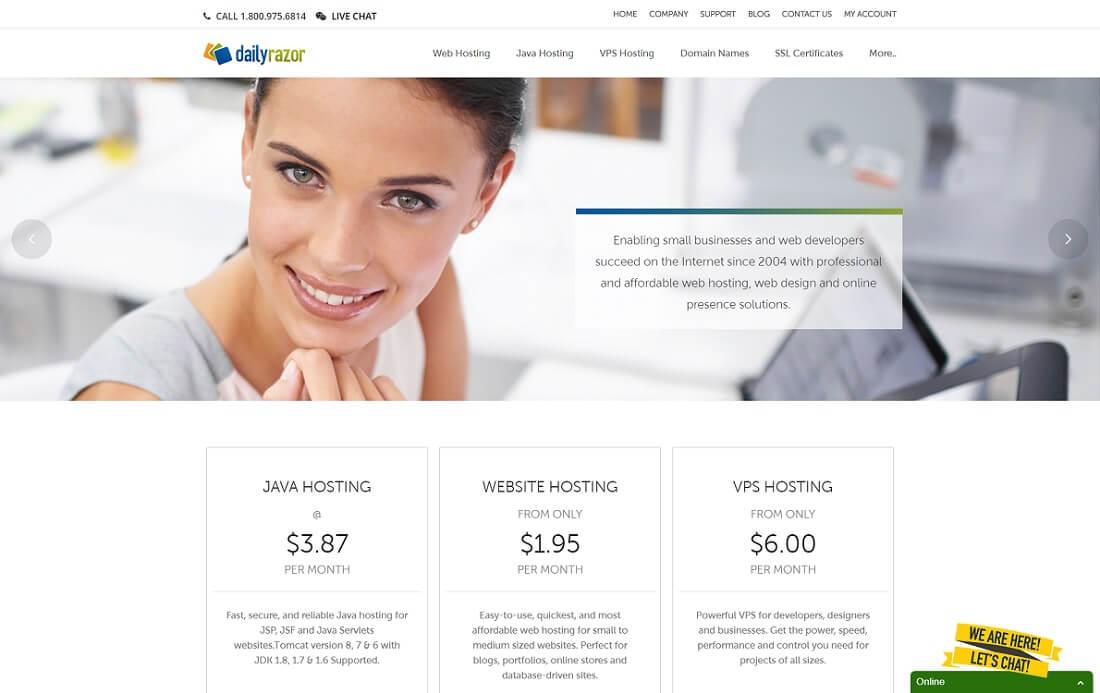dailyrazor jsp hosting