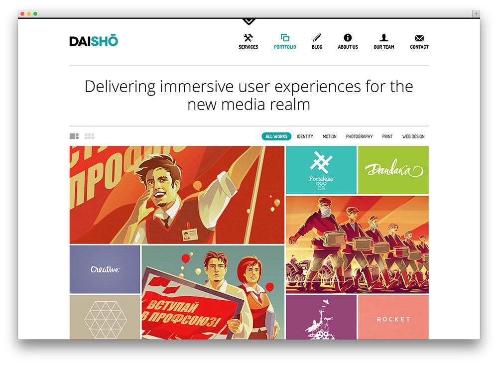 daisho creative media theme
