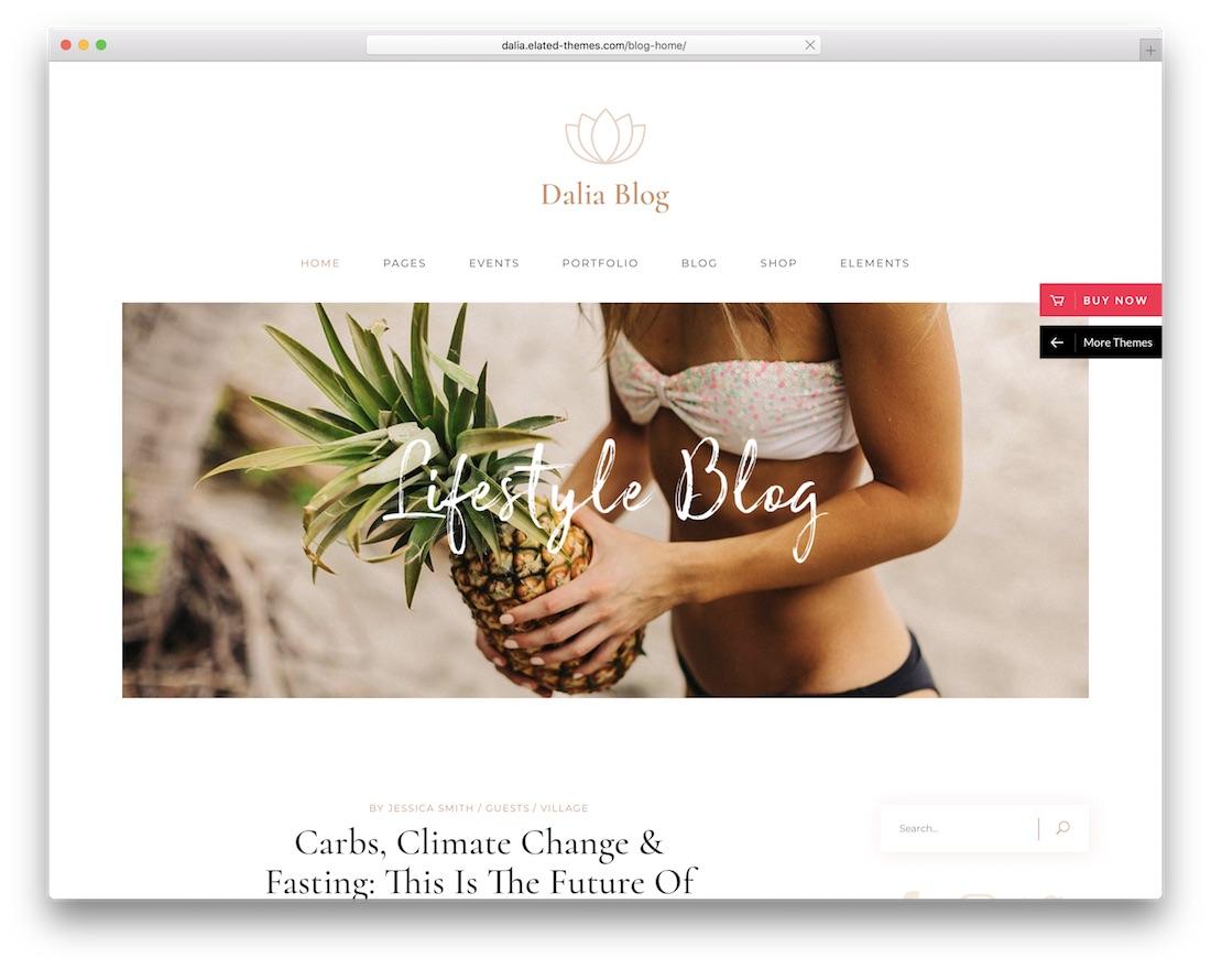 dalia lifestyle wordpress theme
