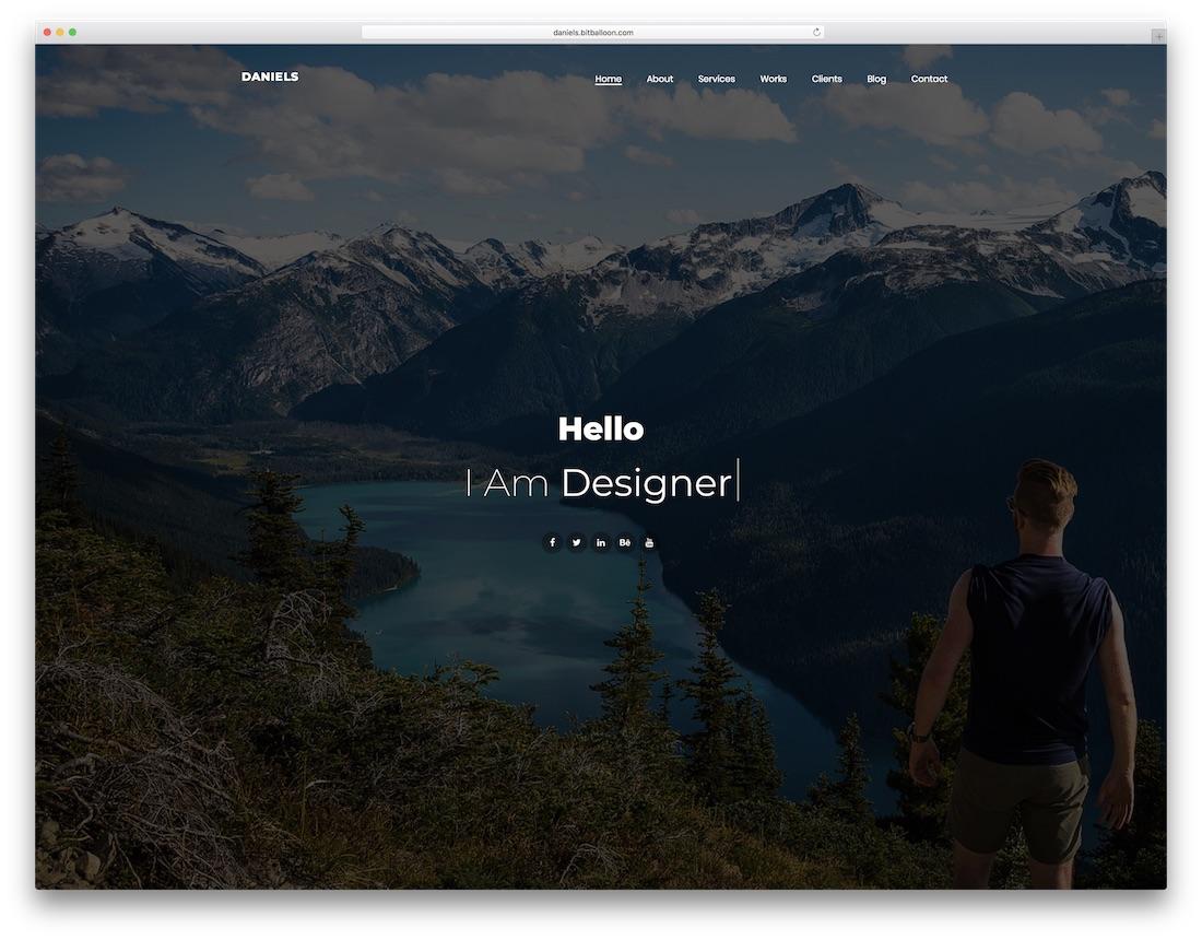 daniels freelancer website template