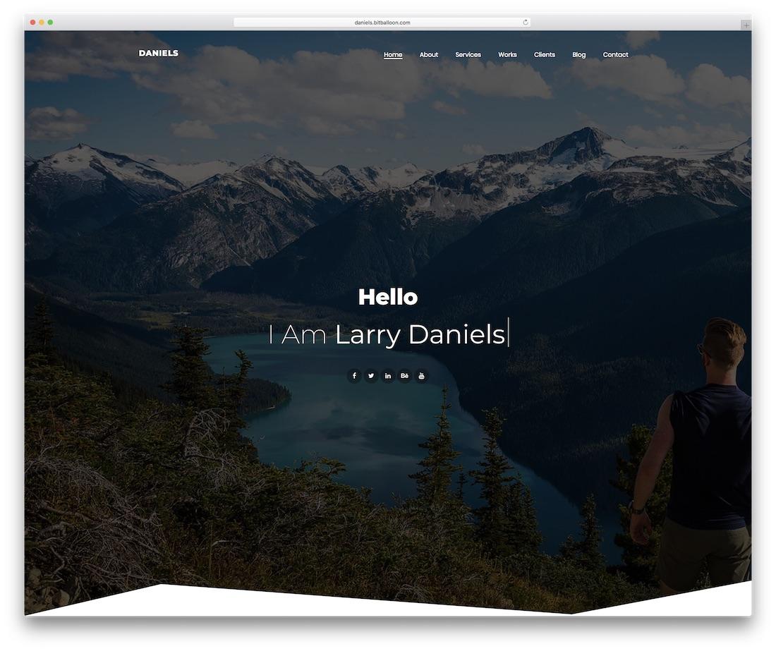 daniels personal website template