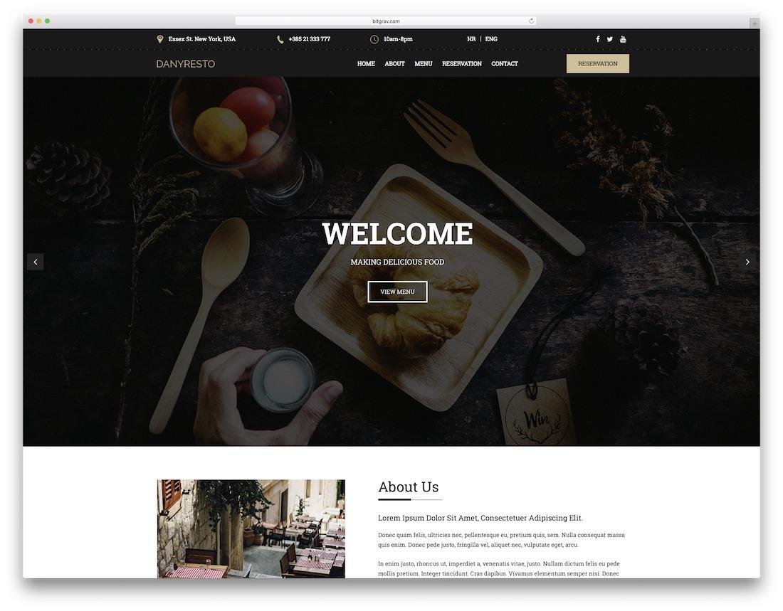 danyresto catering website template