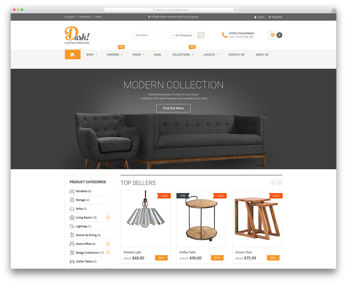 48 beautiful responsive wordpress shop themes 2018 Top online furniture stores