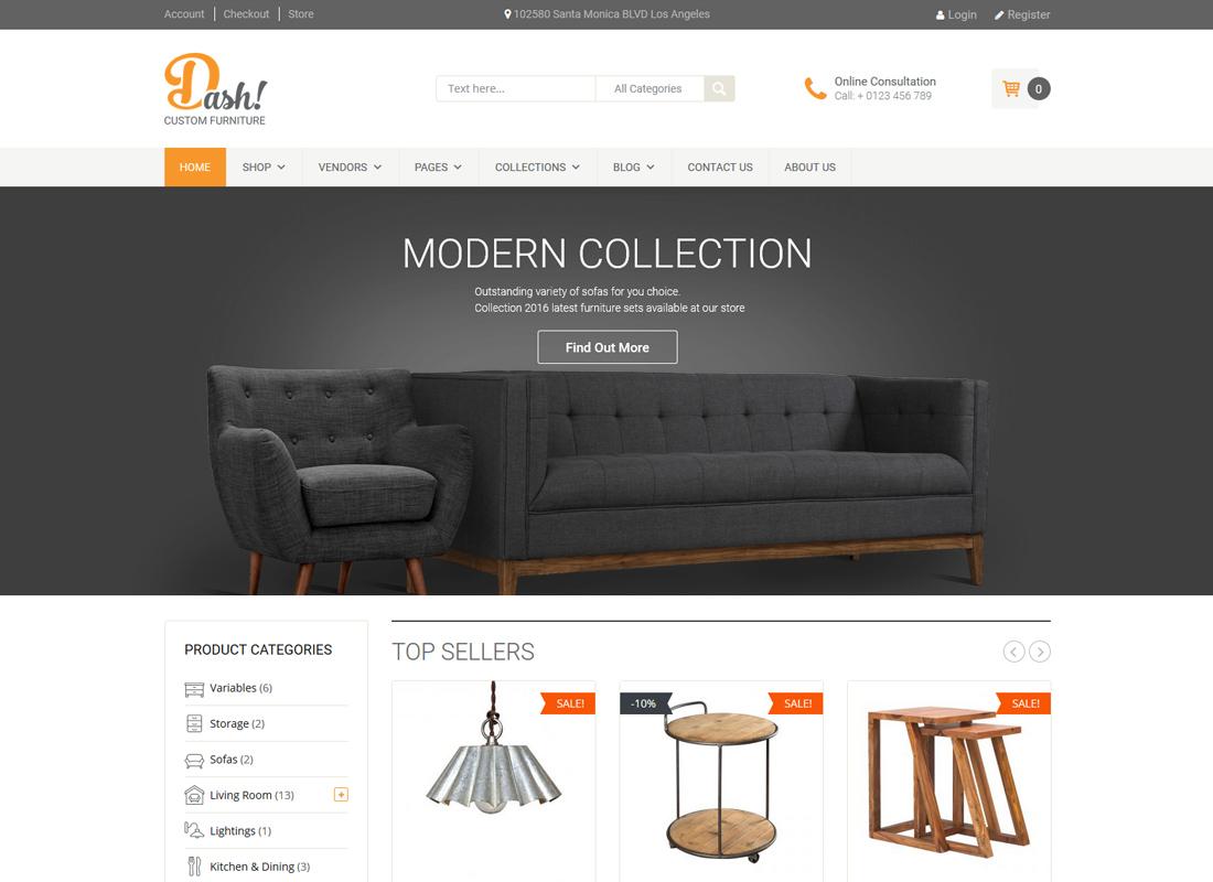Dash | Handmade Furniture Marketplace Theme