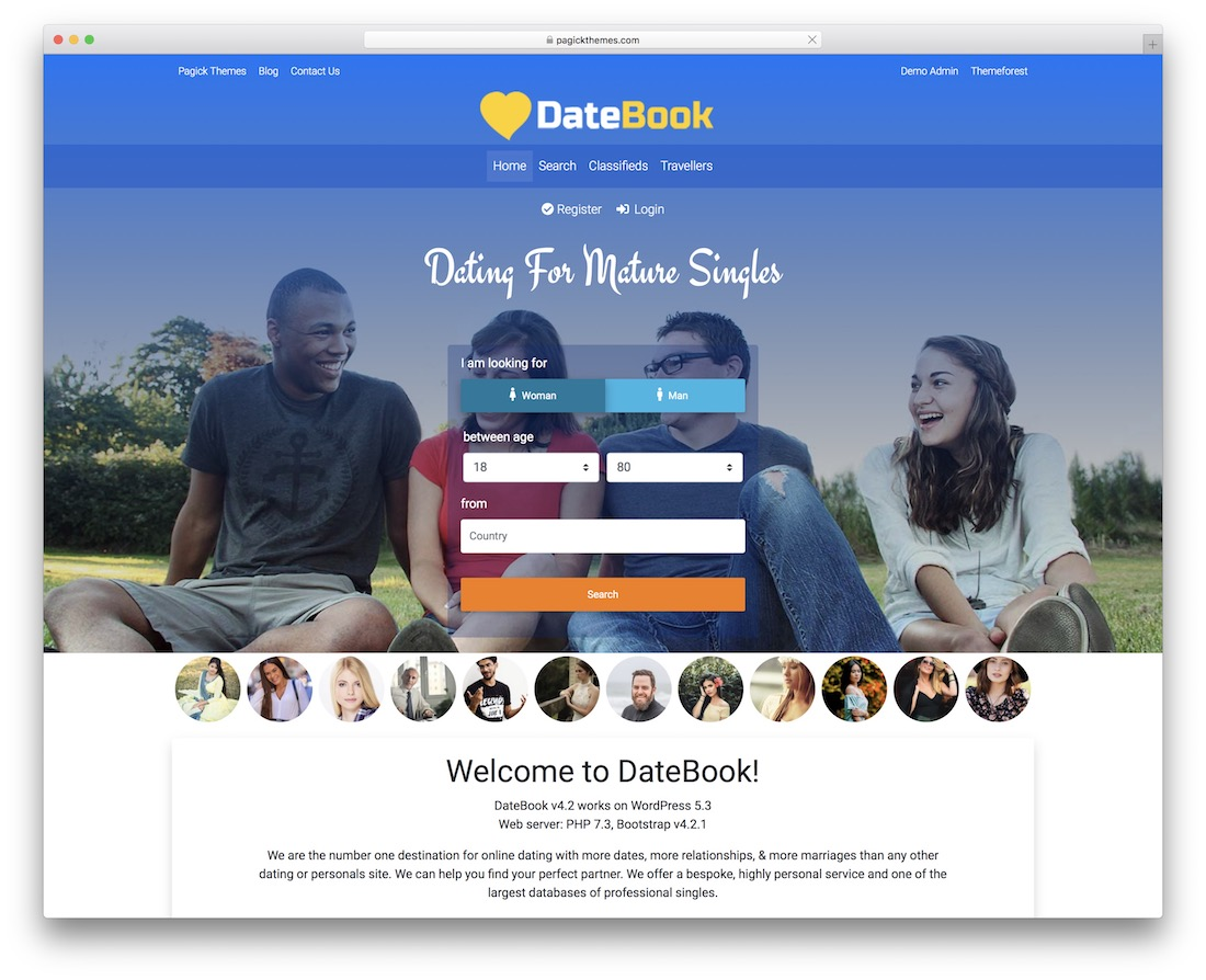 datebook wordpress dating theme