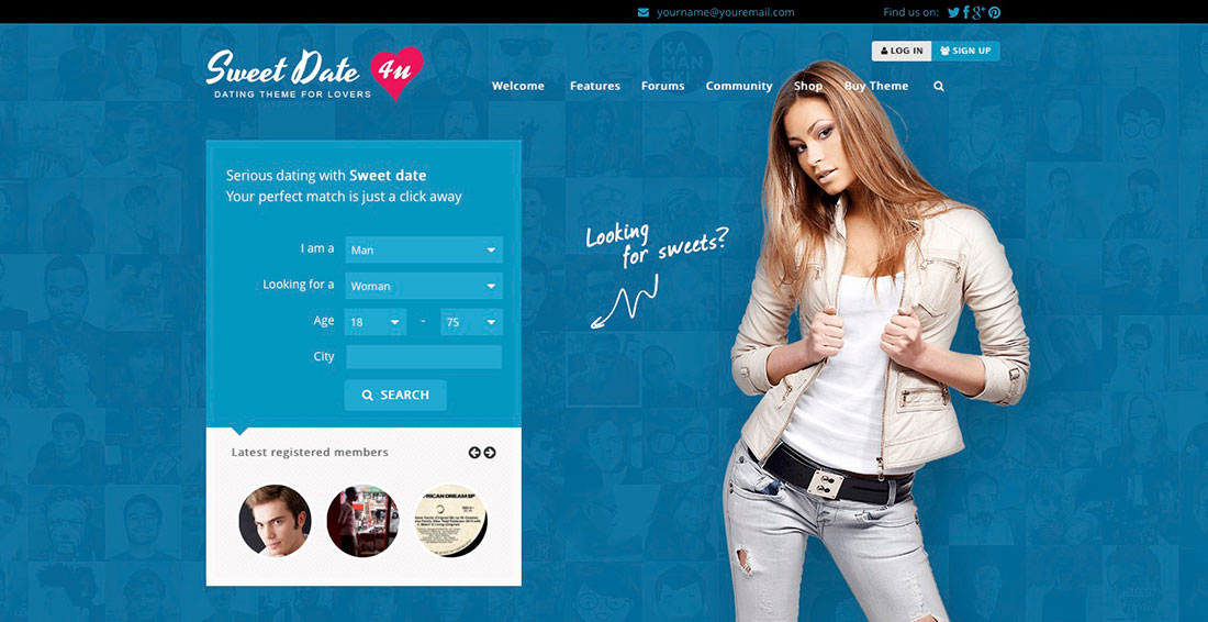 Dating website templates bootstrap