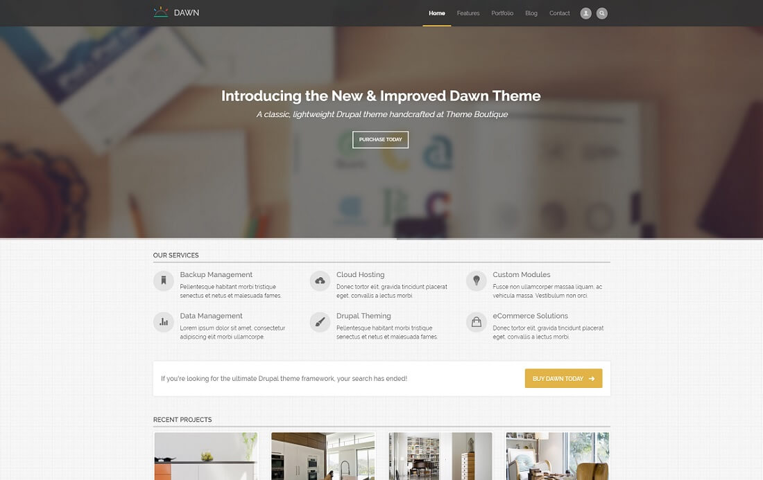 dawn drupal business template